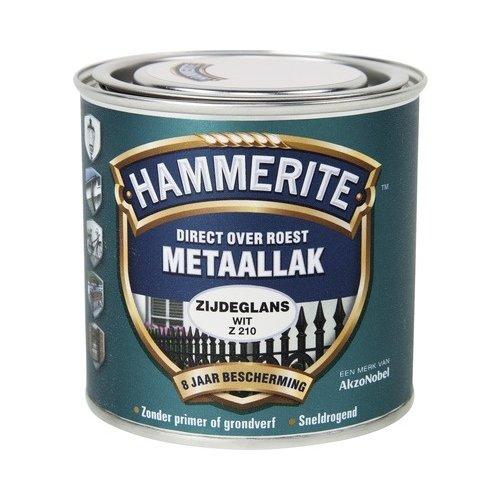 Hammerite Metaallak Direct over Roest Zijdeglans - Z210 Wit