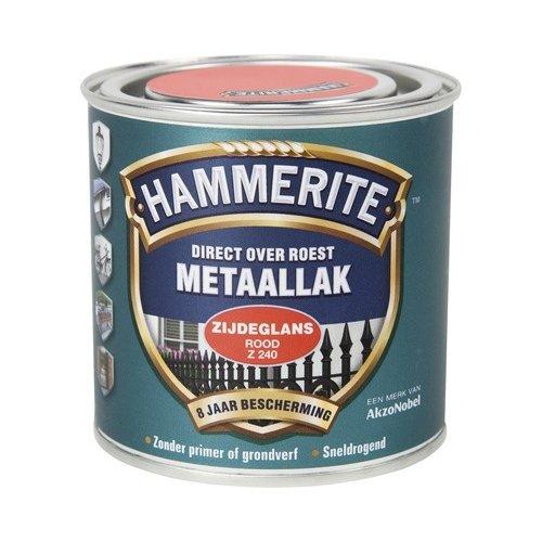 Hammerite Metaallak Direct over Roest Zijdeglans - Z240 Rood