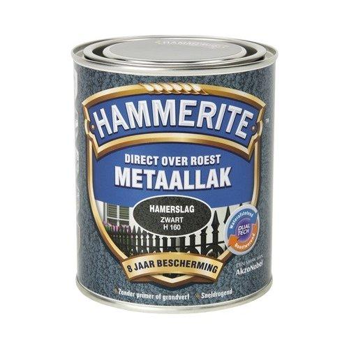 Hammerite Metaallak Direct over Roest Hamerslag - H160 Zwart