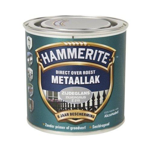 Hammerite Metaallak Direct over Roest Zijdeglans - Z215 Zilvergrijs