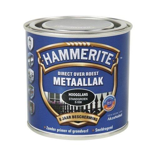 Hammerite Metaallak Direct over Roest Hoogglans - S038 Standgroen