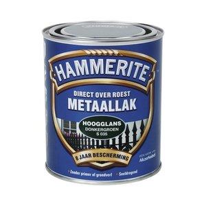 Hammerite Metaallak Direct over Roest Hoogglans - S035 Donkergroen