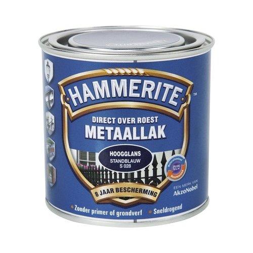 Hammerite Metaallak Direct over Roest Hoogglans - S028 Standblauw