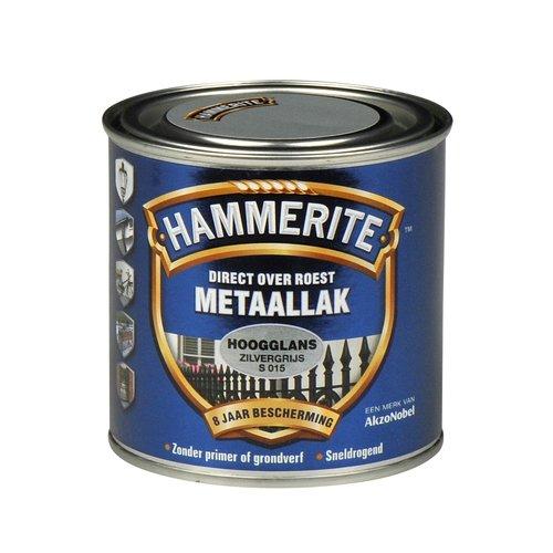 Hammerite Metaallak Direct over Roest Hoogglans - S015 Zilvergrijs