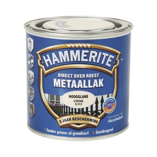 Hammerite Metaallak Direct over Roest Hoogglans - S012 Creme