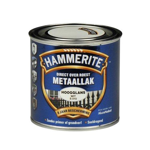 Hammerite Metaallak Direct over Roest Hoogglans - S010 Wit