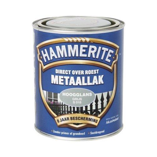 Hammerite Metaallak Direct over Roest Hoogglans - S018 Grijs
