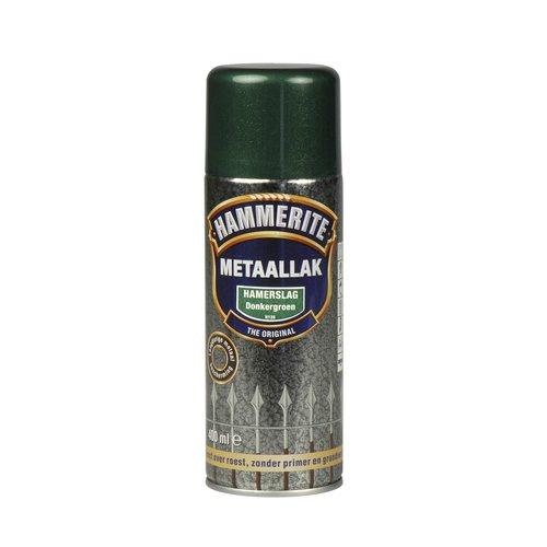 Hammerite Metaallak Direct over Roest Hamerslag Spuitbus - 400 ml H138 Donkergroen