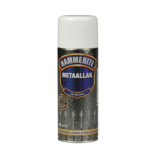 Hammerite Metaallak Direct over Roest Hamerslag Spuitbus - 400 ml H110 Wit