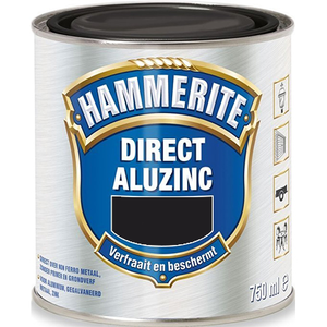 Hammerite Metaallak Direct AluZinc - 750 ml Zwart