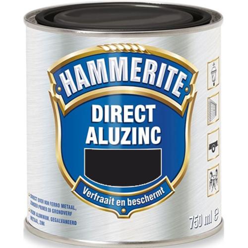 Hammerite Metaallak Direct AluZinc - 750 ml Zwart