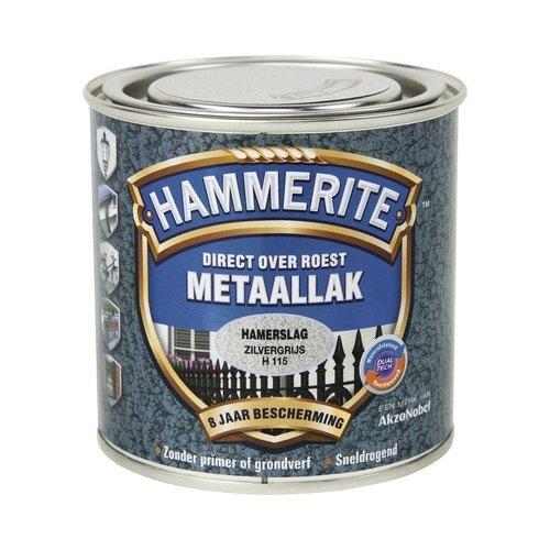Hammerite Metaallak Direct over Roest Hamerslag - H115 Zilvergrijs