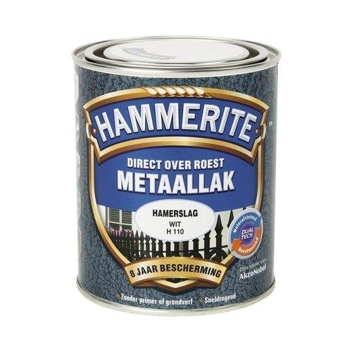 Hammerite Metaallak Direct over Roest Hamerslag - H110 Wit