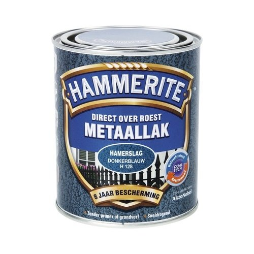 Hammerite Metaallak Direct over Roest Hamerslag - H128 Donkerblauw