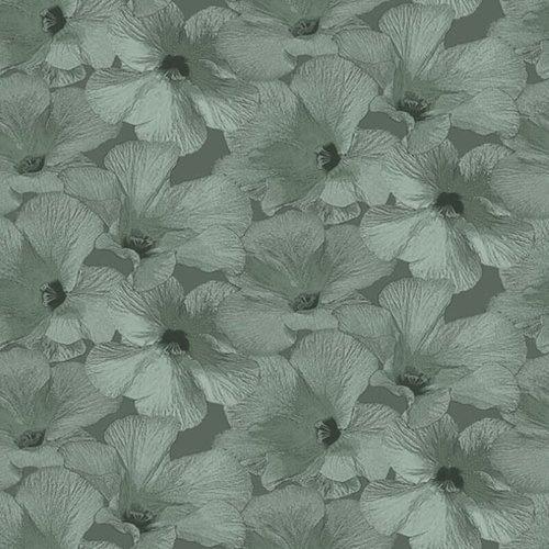 Dutch Wallcoverings Behang Annuell Hibiscus Groen 11001