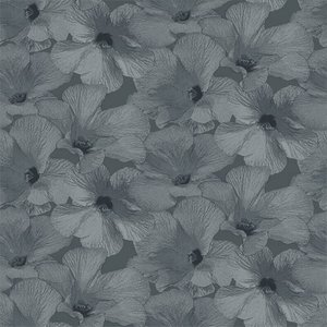 Dutch Wallcoverings Behang Annuell Hibiscus Blauw 11002