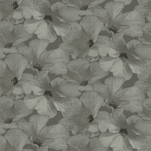 Dutch Wallcoverings Behang Annuell Hibiscus Bruin 11004