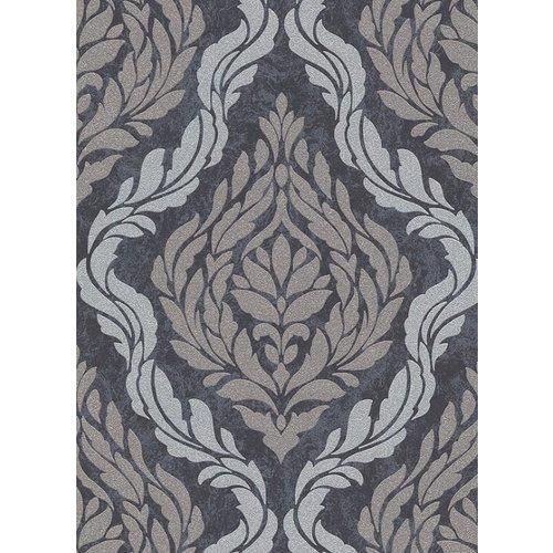 Dutch Wallcoverings Behang Carat Deluxe Medaillon Antr/Zilver 10060-37