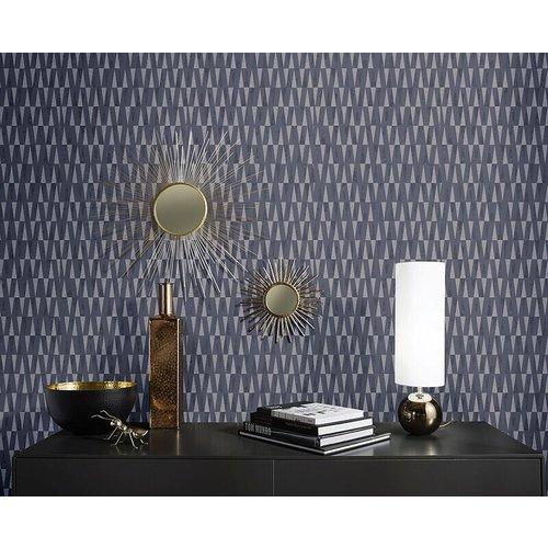 Dutch Wallcoverings Behang Carat Deluxe Dessin Zwart/Zilver 10061-37