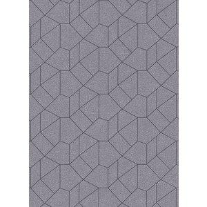 Dutch Wallcoverings Behang Carat Deluxe Dessin Zilver/Zwart 10062-37