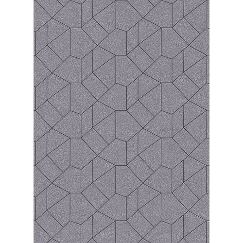 Dutch Wallcoverings Behang Carat Deluxe Dessin Zilver/Zwart 10062-37