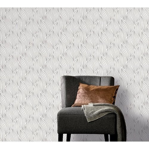 Dutch Wallcoverings Behang Carat Deluxe Dessin Wit/Zilver 10063-14