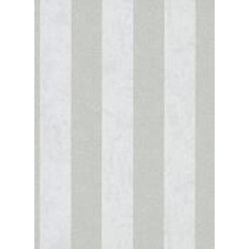 Dutch Wallcoverings Behang Carat Deluxe Streep Wit/Zilver 10077-31