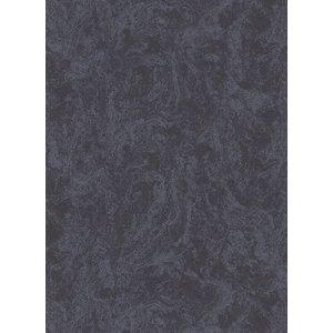 Dutch Wallcoverings Behang Carat Deluxe Uni Zwart 10078-15