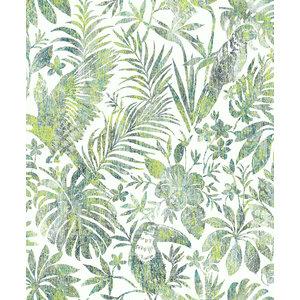 Dutch Wallcoverings Behang Escapade Toekan/Papegaai Groen L685-04