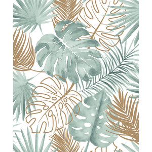 Dutch Wallcoverings Behang Escapade Palmbladeren Groen/Goud L604-04