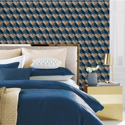 Dutch Wallcoverings Behang Embellish Cube Design  De120134