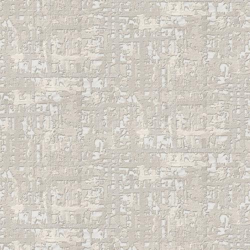 Dutch Wallcoverings Behang Embellish Fabric Abstract Silver De120092