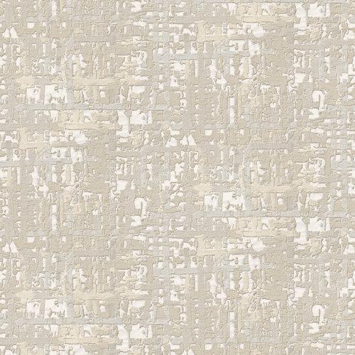 Dutch Wallcoverings Behang Embellish Fabric Abstract Cream  De120091
