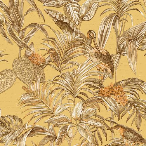 Dutch Wallcoverings Behang Embellish Bird Of Paradise Mustard De120018