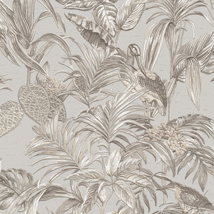 Dutch Wallcoverings Behang Embellish Bird Of Paradise Grey De120011