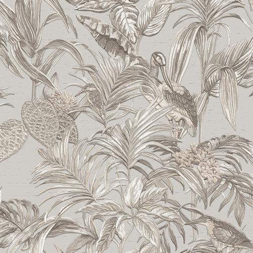 Dutch Wallcoverings Behang Embellish Bird Of Paradise Grey De120011