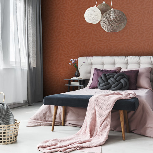 Dutch Wallcoverings Behang Design Drop Orange 12024