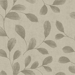 Dutch Wallcoverings Behang Design Leaves Grey-Beige 12020