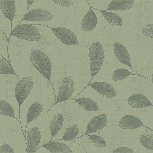 Dutch Wallcoverings Behang Design Leaves Green 12019