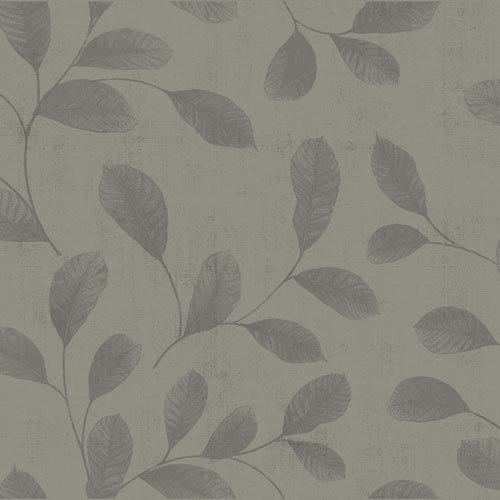Dutch Wallcoverings Behang Design Leaves Grey 12018