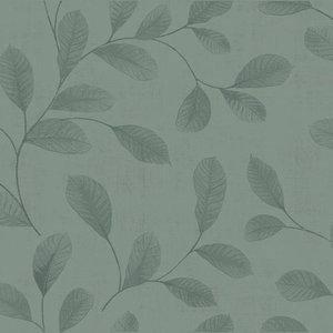 Dutch Wallcoverings Behang Design Leaves Turquoise 12017