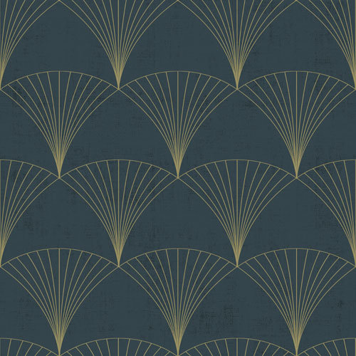 Dutch Wallcoverings Behang Design Chrysler Blue 12000