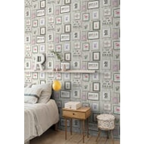 Dutch Wallcoverings Behang Exposure Lijstjes Grijs Ep2201
