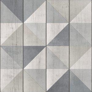 Dutch Wallcoverings Behang Exposure Blok/Driehoek Grijs Ep3103