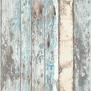 Dutch Wallcoverings Behang Exposure Sloophout Bruin/Blauw Ep3601 = Pe10012