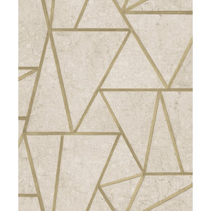 Dutch Wallcoverings Behang Exposure Grafisch Beige/Goud Ep3702