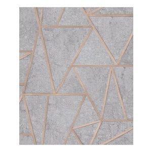 Dutch Wallcoverings Behang Exposure Grafisch Grijs/Zilver Ep3703