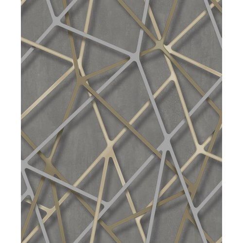 Dutch Wallcoverings Behang Galactik Dessin Beige/Goud M247-09