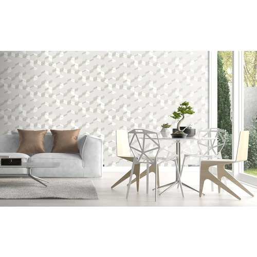 Dutch Wallcoverings Behang Galactik 3D Zeshoek Wit L970-00