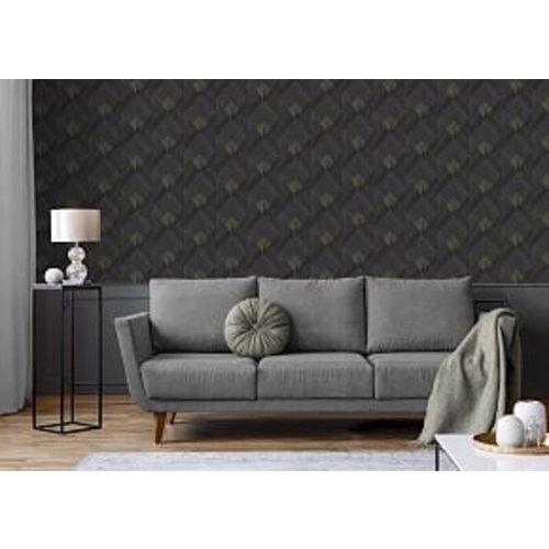 Dutch Wallcoverings Behang Galactik Dessin Zwart/Goud L967-09